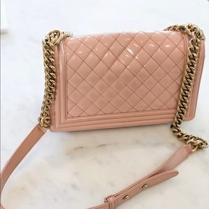 CHANEL Bags - baby pink CHANEL boy bag 💝